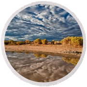 Mud Puddle Round Beach Towel