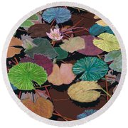 Muddy Waters Round Beach Towel