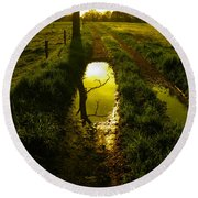 Mudhole Mirror Round Beach Towel