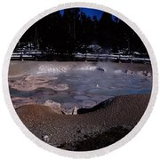 Mudpots Area I V Round Beach Towel
