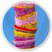 Muffin Cups Round Beach Towel by Elena Elisseeva