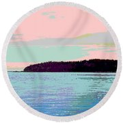 Mukilteo Clinton Ferry Panel 2 Of 3 Round Beach Towel