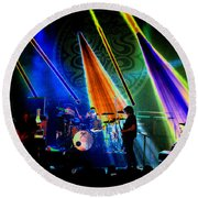 Mule #13 Enhanced Image Round Beach Towel
