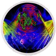 Mule #14 Enhanced Image Round Beach Towel