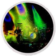 Mule #7 Enhanced Image In Cosmicolor Round Beach Towel