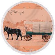 Mule Days - Westmoreland Tn  9-28-13  2 Round Beach Towel