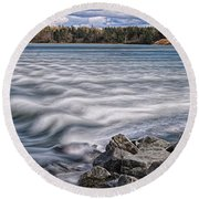 Mulholland Point Lighthouse Round Beach Towel
