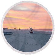 Multi Color Skies - Cape May New Jersey Round Beach Towel