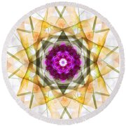 Multi Flower Abstract Round Beach Towel