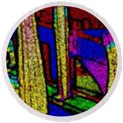 Multi Sensation Colors Round Beach Towel
