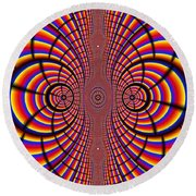 Multicolored Abstract Round Beach Towel