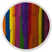 Multicolored Paint Can  Round Beach Towel