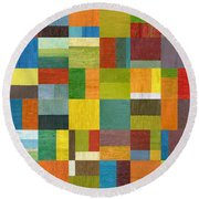 Multiple Exposures Lv Round Beach Towel