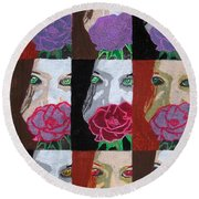 Multiple Personalities Round Beach Towel