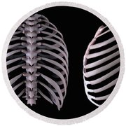 Multiple View Of The Rib Cage Round Beach Towel