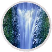 Multnomah Falls Columbia River Gorge Oregon Round Beach Towel
