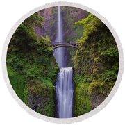 Multnomah Falls - Columbia River Gorge - Oregon Round Beach Towel
