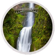 Multnomah Panorama Round Beach Towel