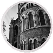 Mumbai University Bw Round Beach Towel