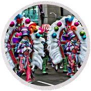 Mummer Color Round Beach Towel