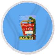 Munger Moss Motel Round Beach Towel