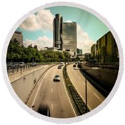 Munich Traffic Round Beach Towel