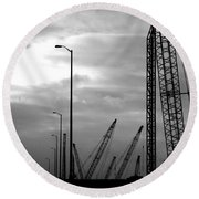 Municipal Construction  Round Beach Towel