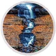 Munising Falls I Round Beach Towel