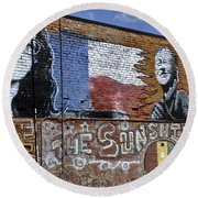 Mural And Graffiti Round Beach Towel