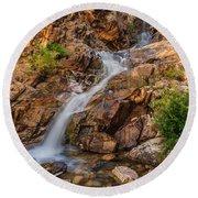 Murdock Basin Falls 2 Round Beach Towel