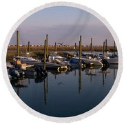 Murrels Inlet South Carolina Round Beach Towel