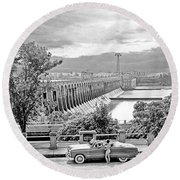 Muscle Shoals Round Beach Towel