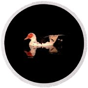 Muscovy Night Reflections Round Beach Towel