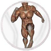 Muscular Man Running Round Beach Towel