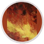 Muse In The Fire 2 Round Beach Towel