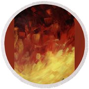 Muse In The Fire 3 Round Beach Towel