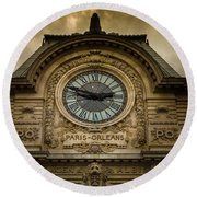 Musee Orsay Round Beach Towel