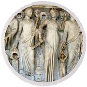Muses And Poets Round Beach Towel