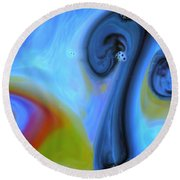 Mushroom Colors Round Beach Towel by Riad Belhimer