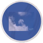 Mushroom In The Clouds Round Beach Towel