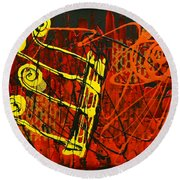 Music 1 Round Beach Towel