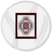 Music And Lace Round Beach Towel