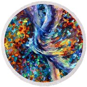 Music Flight Round Beach Towel