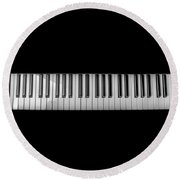 Music Keyboard Round Beach Towel