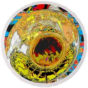 Music Out Of Metal Xiii Round Beach Towel