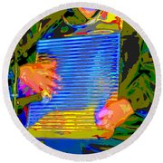 Music Out Of Metal Xv Round Beach Towel
