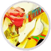Music Out Of Metal Xviii Round Beach Towel