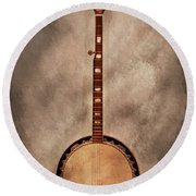 Music - String - Banjo  Round Beach Towel by Mike Savad
