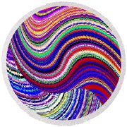 Music To The Eyes Round Beach Towel