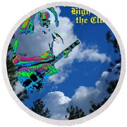 Music Up In The Clouds Again Round Beach Towel